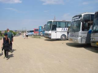 Автобусы со всей Россиии в Аркаиме