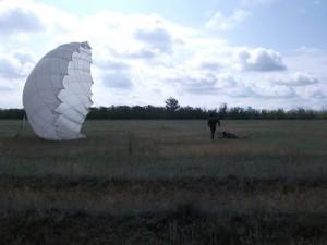Гашение купола парашюта