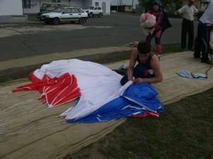 Подготовка парашюта
