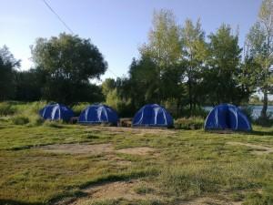 Отдельные четыре палатки