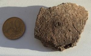 кусочек керамики которому около 5 тысяч лет