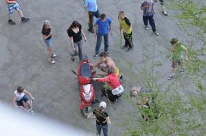 Авария под окнами