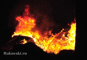Пожар во дворе