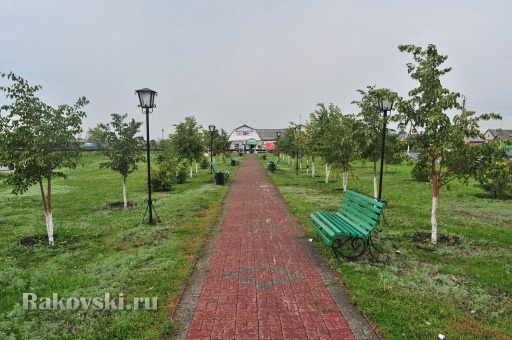 Чесменская колонна и парк село Чесма Челябинской области
