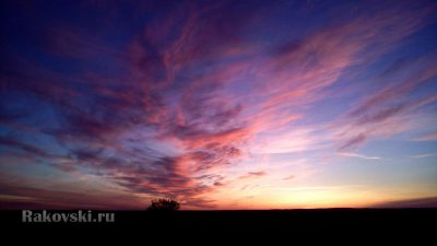 Закат близ Орска