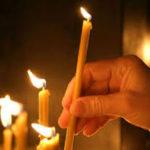 Возжигание лампад и свечей